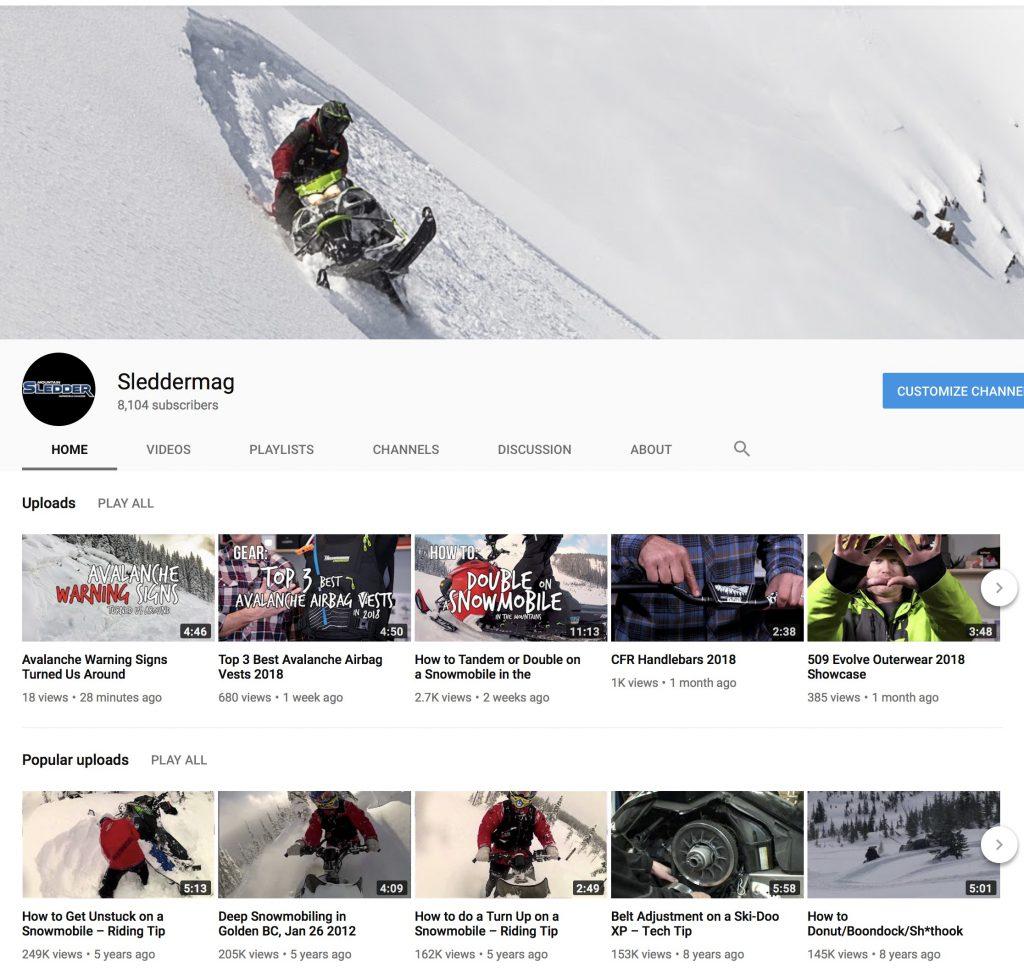 Mountain Sledder on YouTube