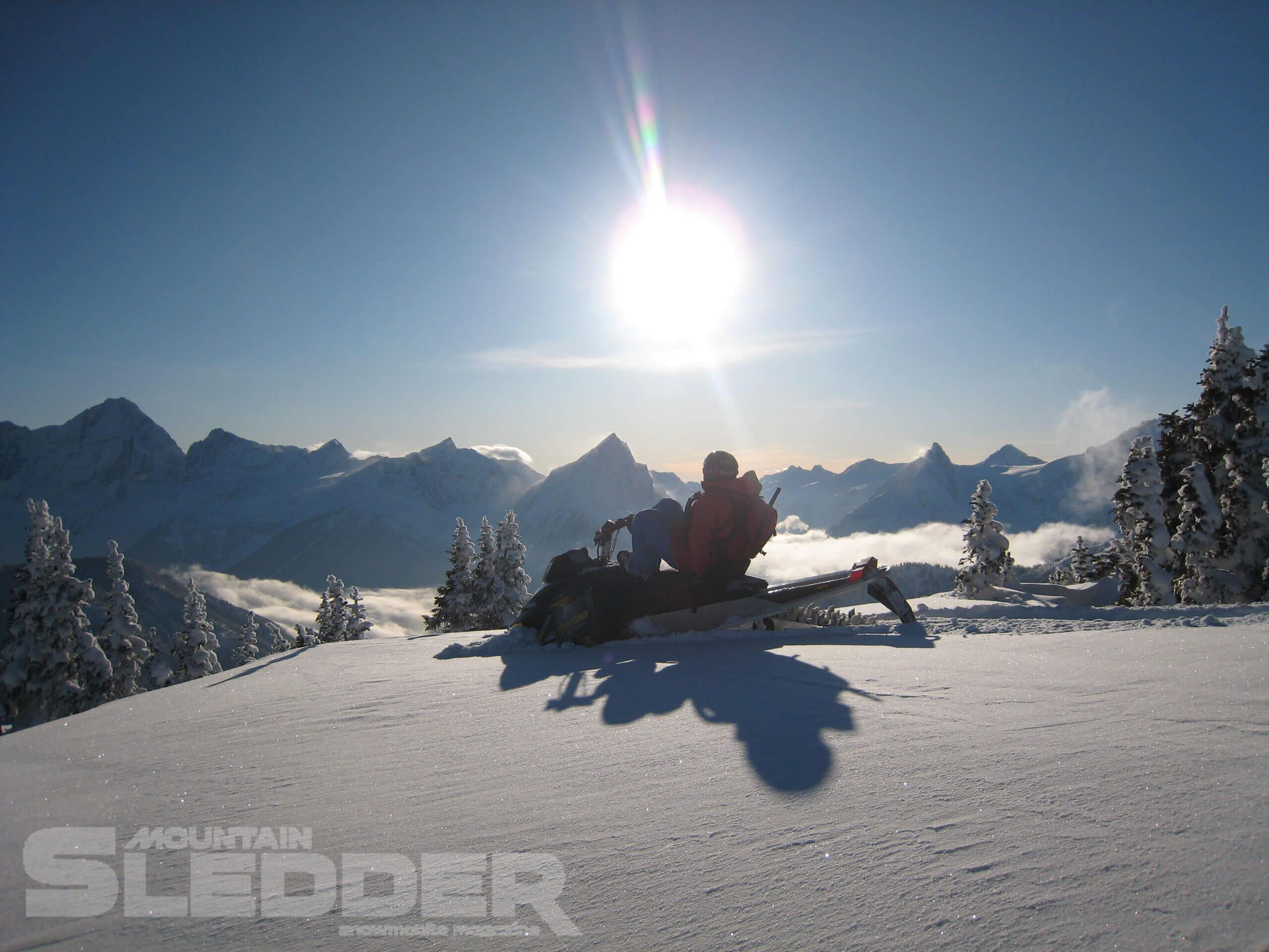 Quartz Creek Snowmobile Area near Golden, BC