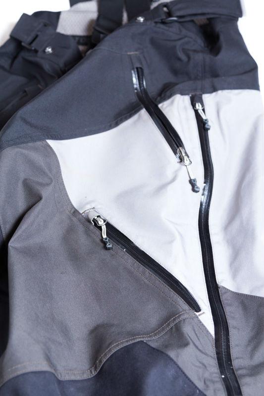 Waterproof pocket zips.