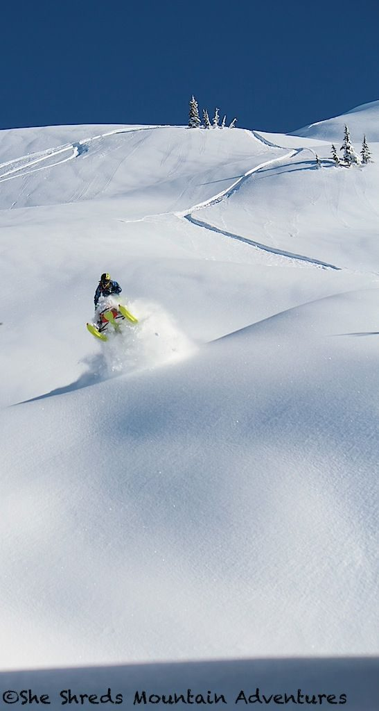 Brodie Evans getting some on a bluebird pow pow kinda day!
