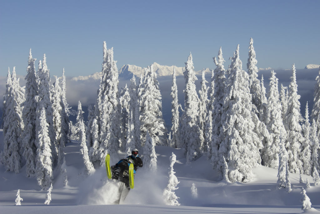 Shredding the pockets of pow while enjoying the Revy scenery | PC: Andrew Munster