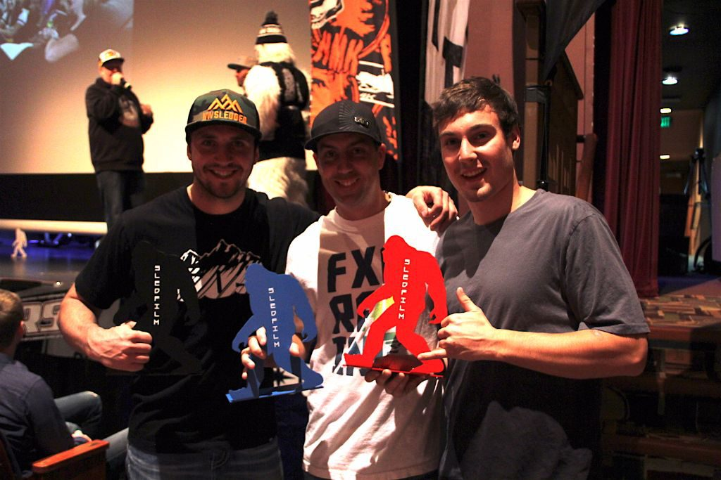 Mentaberry displaying his Red Yeti, along with fellow winners  Sahen Skinner and Ryan Berchtold.