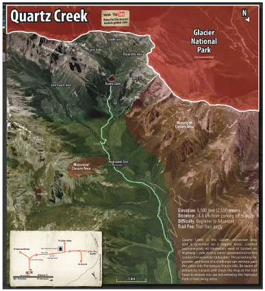 Quasrtz Creek Map Displaying Park Boundries