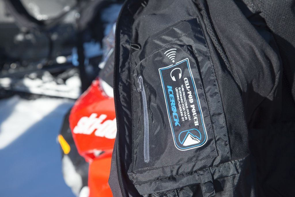 """The Apex Jacket features a host of pockets, including this interior """"Cell-Pod"""" pouch for your easy listening enjoyment."""