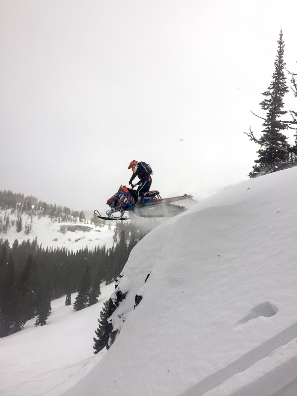 Rohde making the most of steady snowfall in December. Ryan Miller Photo.