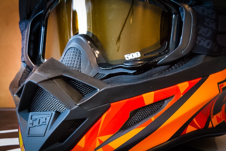 Any goggle will do, but of course 509's goggle lineup is specifically designed to work in conjunction with 509 helmets.