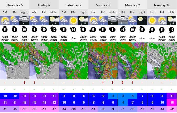 Revelstoke Conditions Forecast