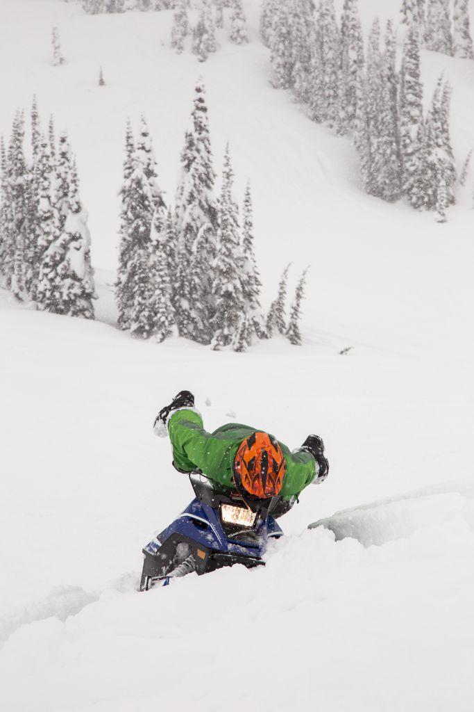 ... until you dig in a ski!