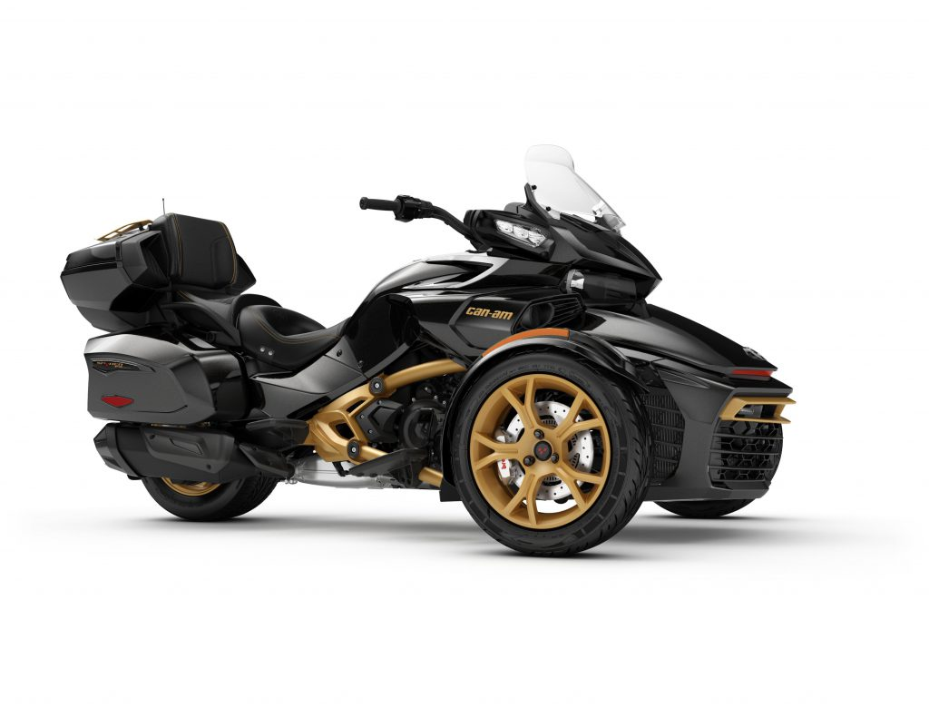 brp celebrates can am spyder 10th anniversary mountain sledder. Black Bedroom Furniture Sets. Home Design Ideas