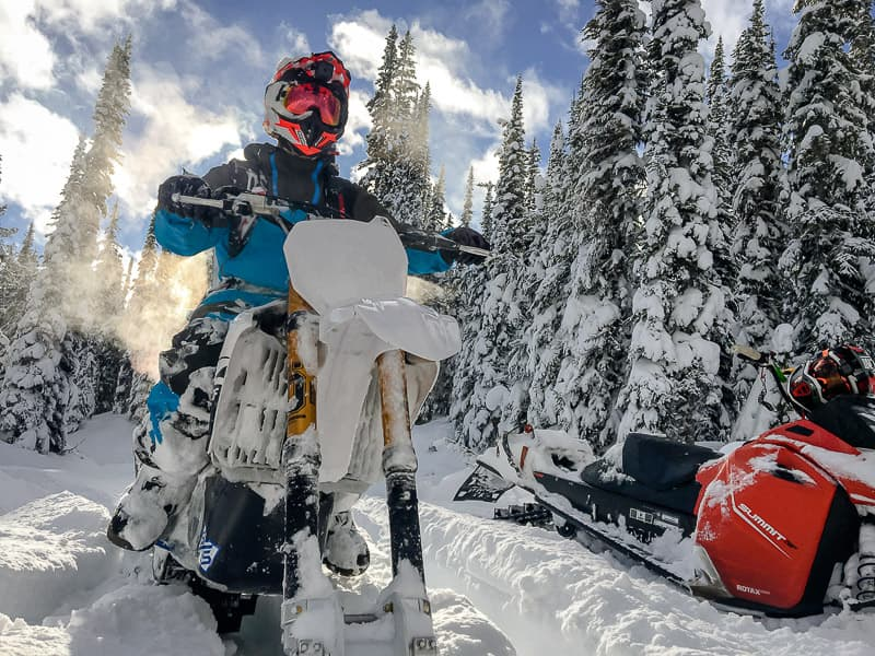 Sled vs Snow Bike
