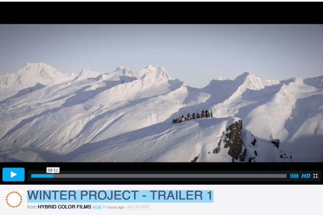 WINTER PROJECT – TRAILER 1