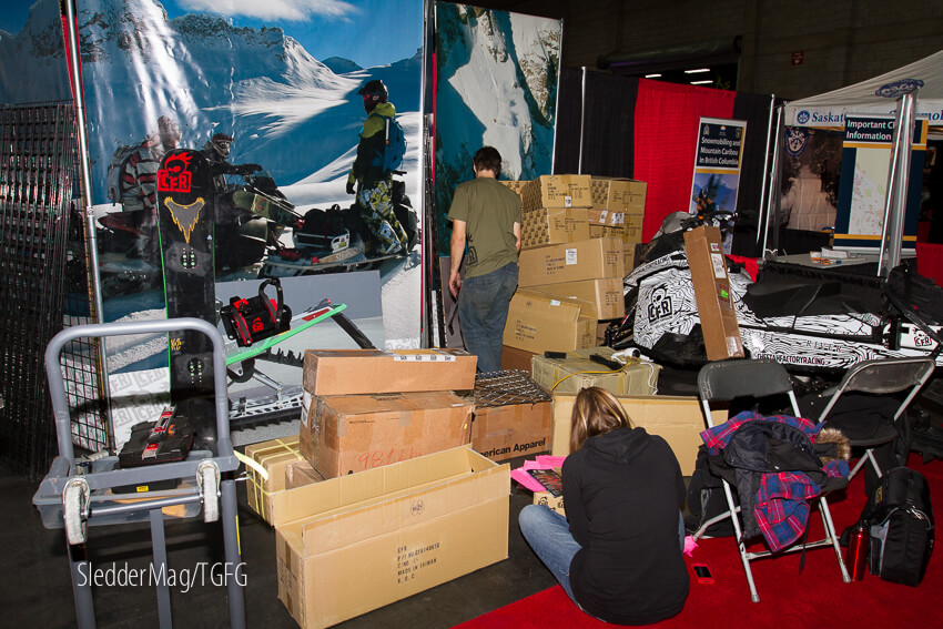 The show always starts with a long drive with a lot of boxes. Here's the bleary eye'd CFR crew setting up and also, our first photo of the whole trip.