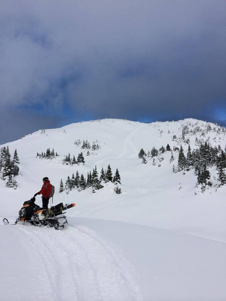 afterwords we sledded to the top.