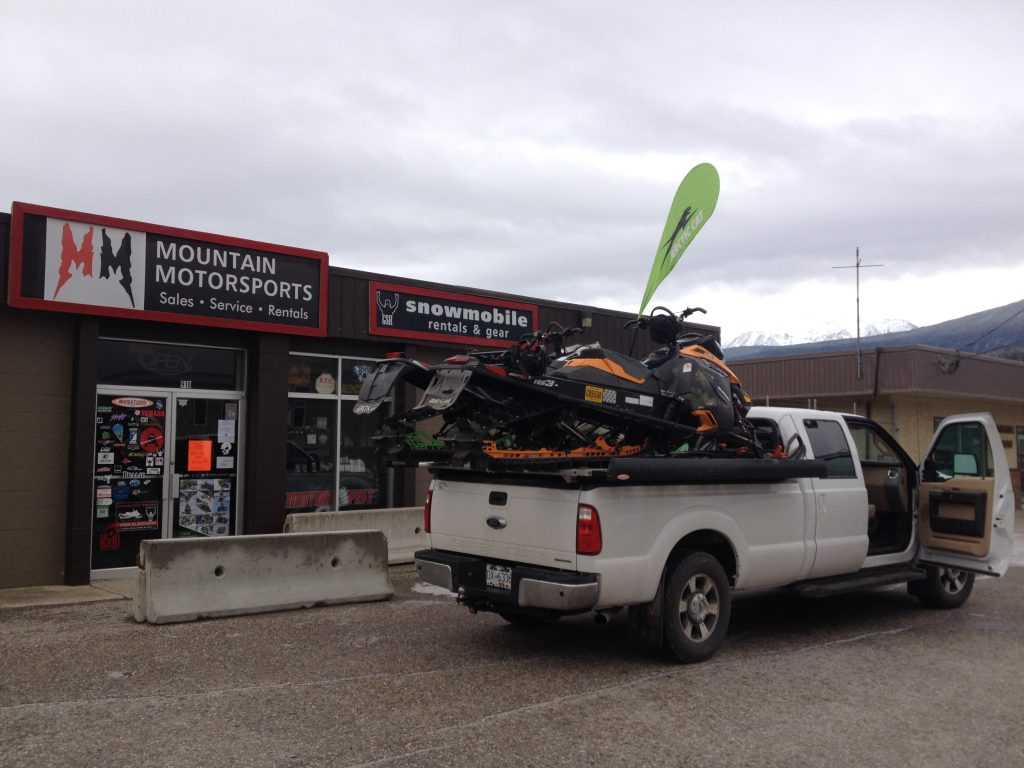 loaded up at Mountain MotorSports