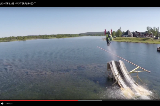 First-Ever Water Backflip!