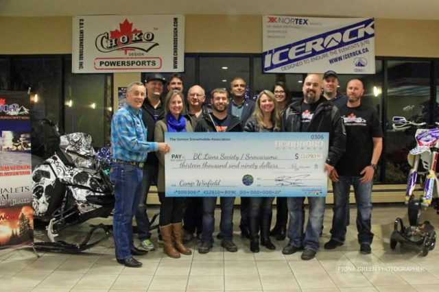 Snowmobilers raise $13,000 for Easter Seals at BC Snow Show