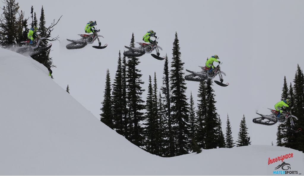 Attack of the Clones. Brock and his alter egos goin' big in the backcountry