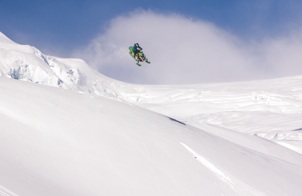 Steezin' for no reason. Stephanie Sweezy shows up more than a few guys in the backcountry for sure.