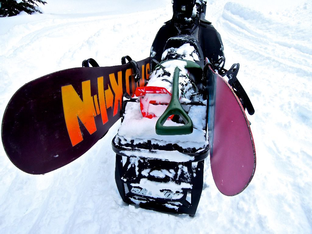 The coolest snowboard rack that you can't actually buy.