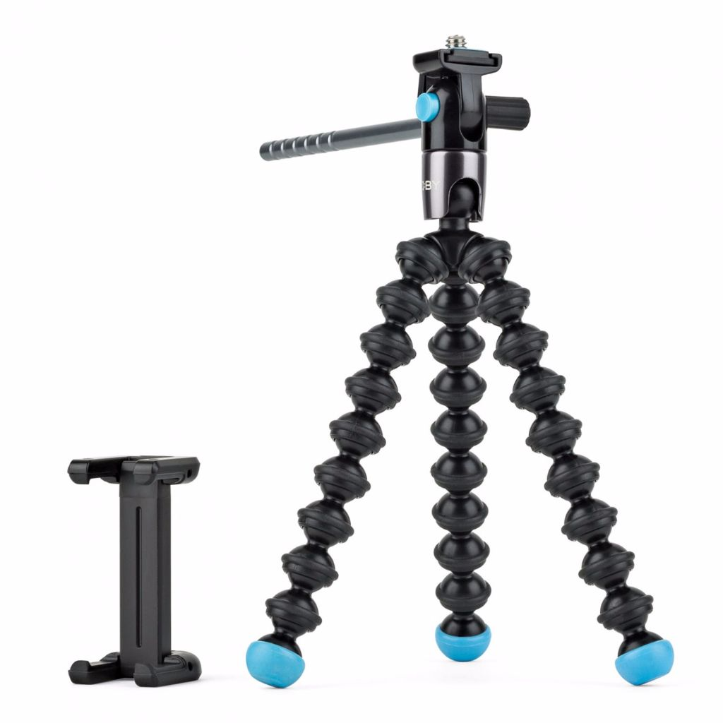 There are many portable smartphone tripod options out there including the Grip Tight GorillaPod Video from Joby.