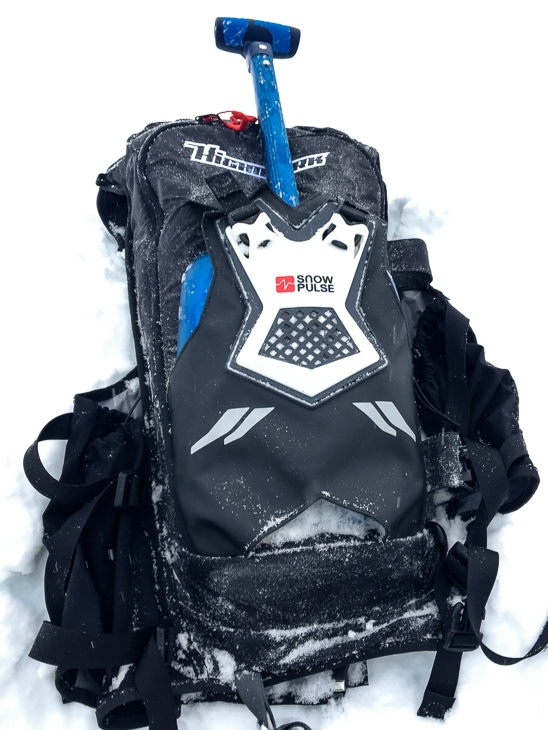 I definitely do not want to stuff my snowy, icy shovel blade back inside my pack.