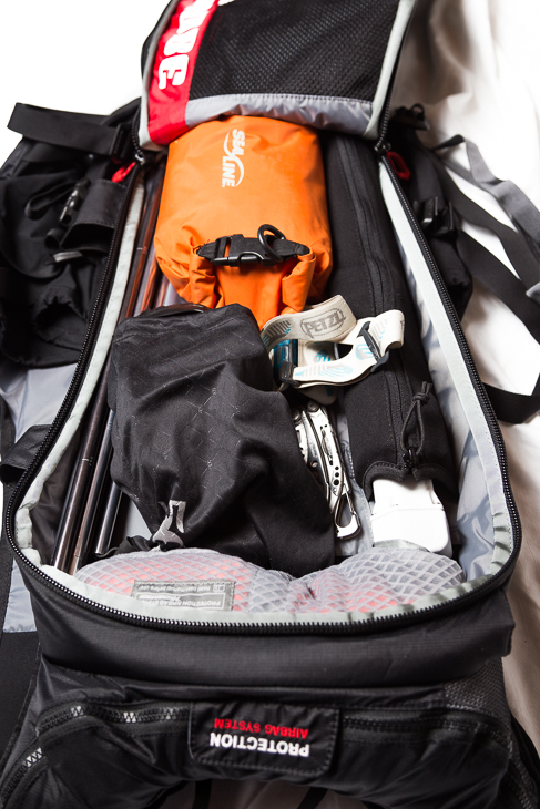 There's room for your essential avalanche rescue gear and first-aid, but not much more.