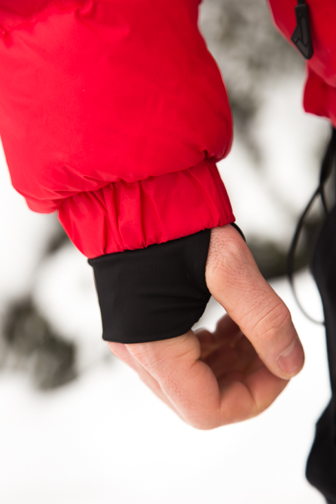 I'm not sure if these cuffs were designed to keep out snow, but they work very well at keeping out cold air.