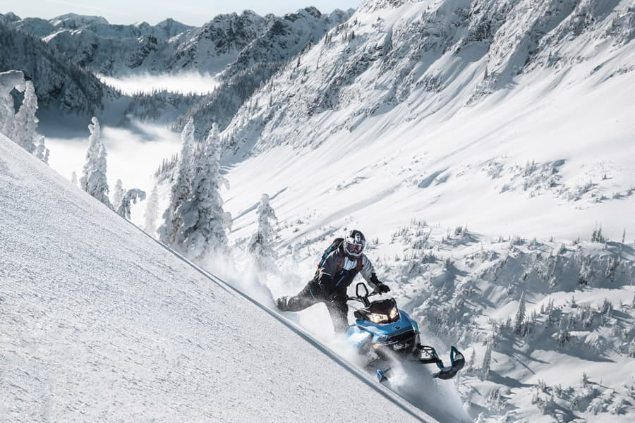 Image result for ski doo summit sledding in mountains