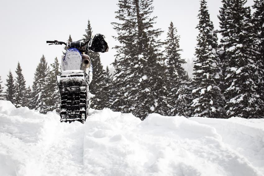 Riding a Snow Bike 101 for Sledders and Dirt Bike Riders – Old Guy