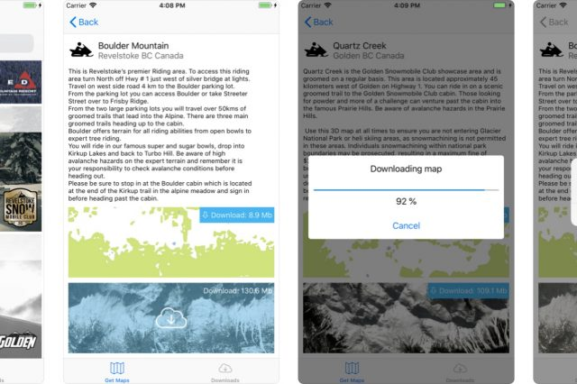 Boonmaps App – 3D Navigation Tool for Mountain Snowmobilers