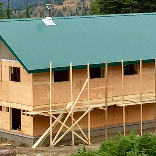 Update: Allan Creek Shelter at Valemount Riding Zone Nearly Completed