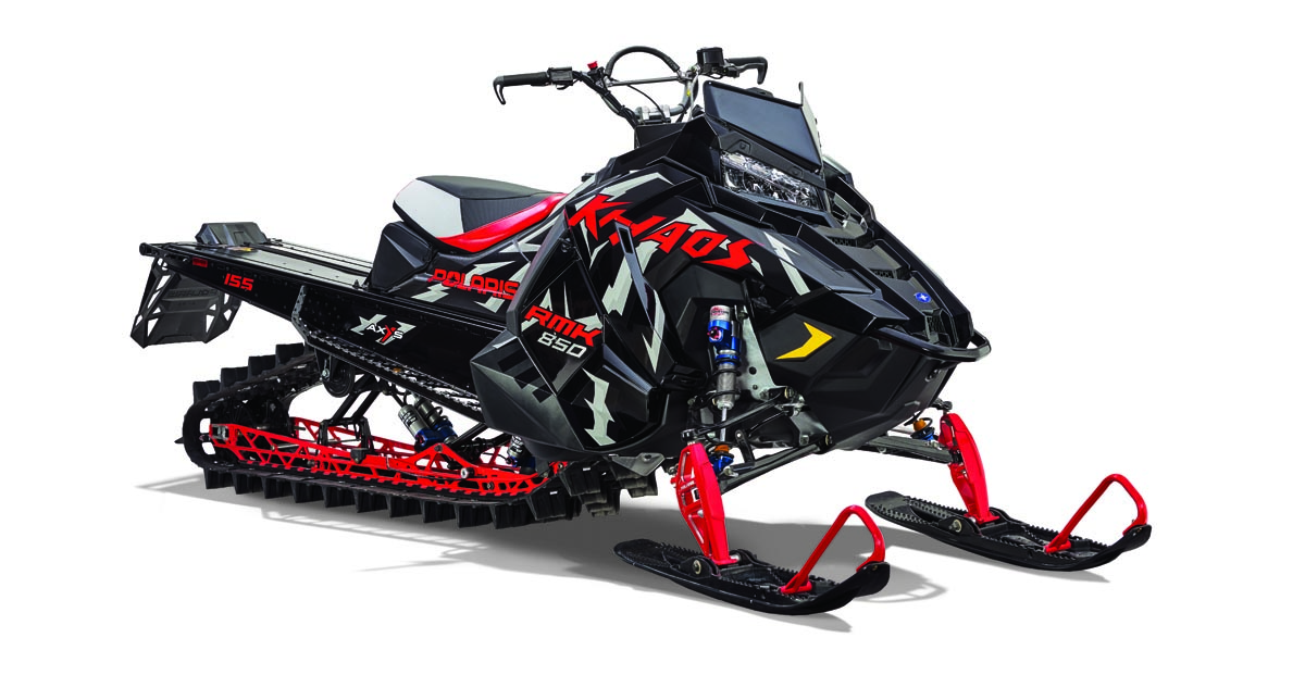2020 Polaris RMK KHAOS 155 Black Pearl/INDY Red
