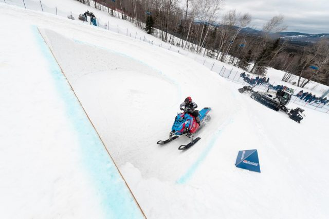 Raphael Boily competes at Red Bull Sledhammers at Ski La Réserve, in Saint-Donat, Quebec, Canada, on 6 April, 2019.