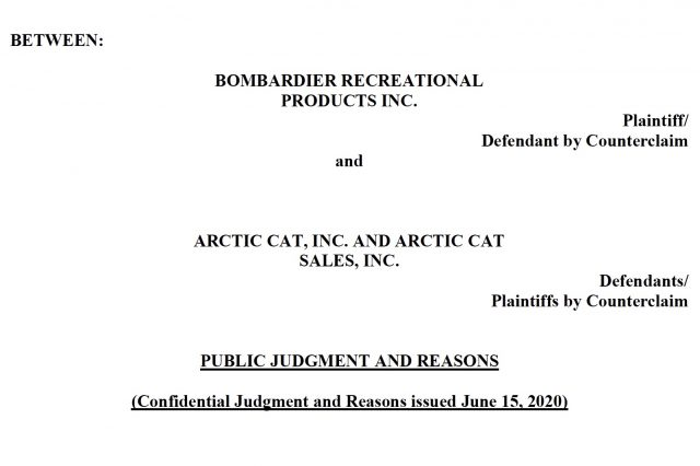Court Document Reveals Arctic Cat MY2021 Snowmobile Sales in Canada in Jeopardy
