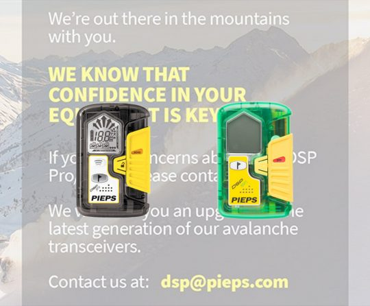 Pieps Offers Upgrades to Owners of DSP Pro and Sport Avalanche Transceivers