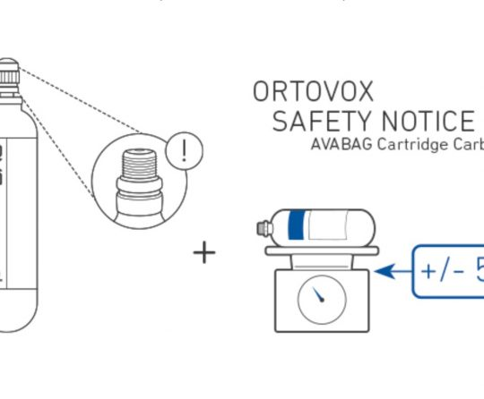 Ortovox Issues Safety Notice for AVABAG Avalanche Airbag Cartridges