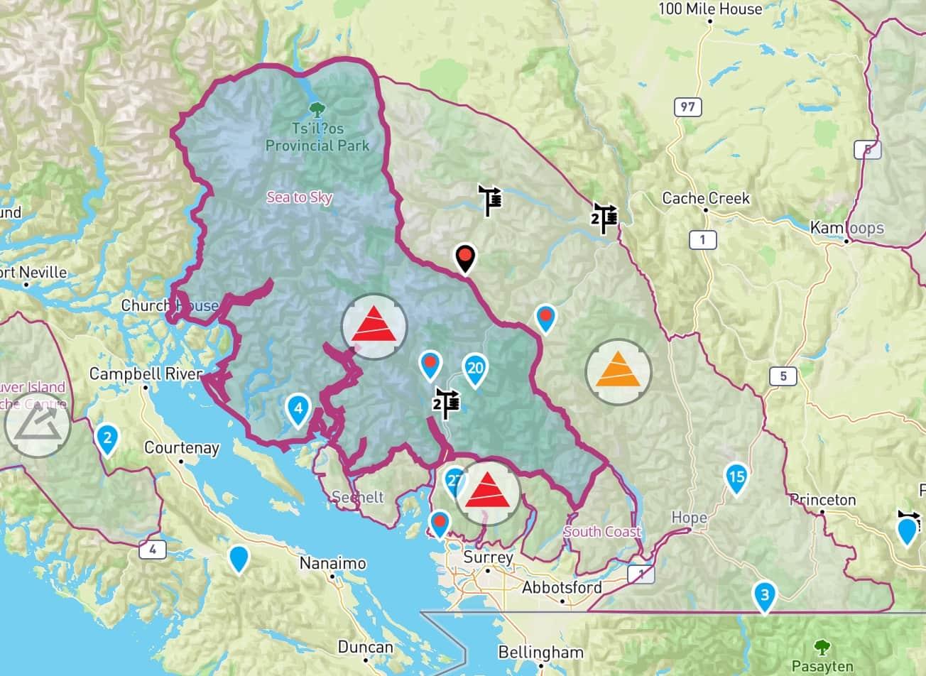 Riding the Coast Avalanche Canada Forecast