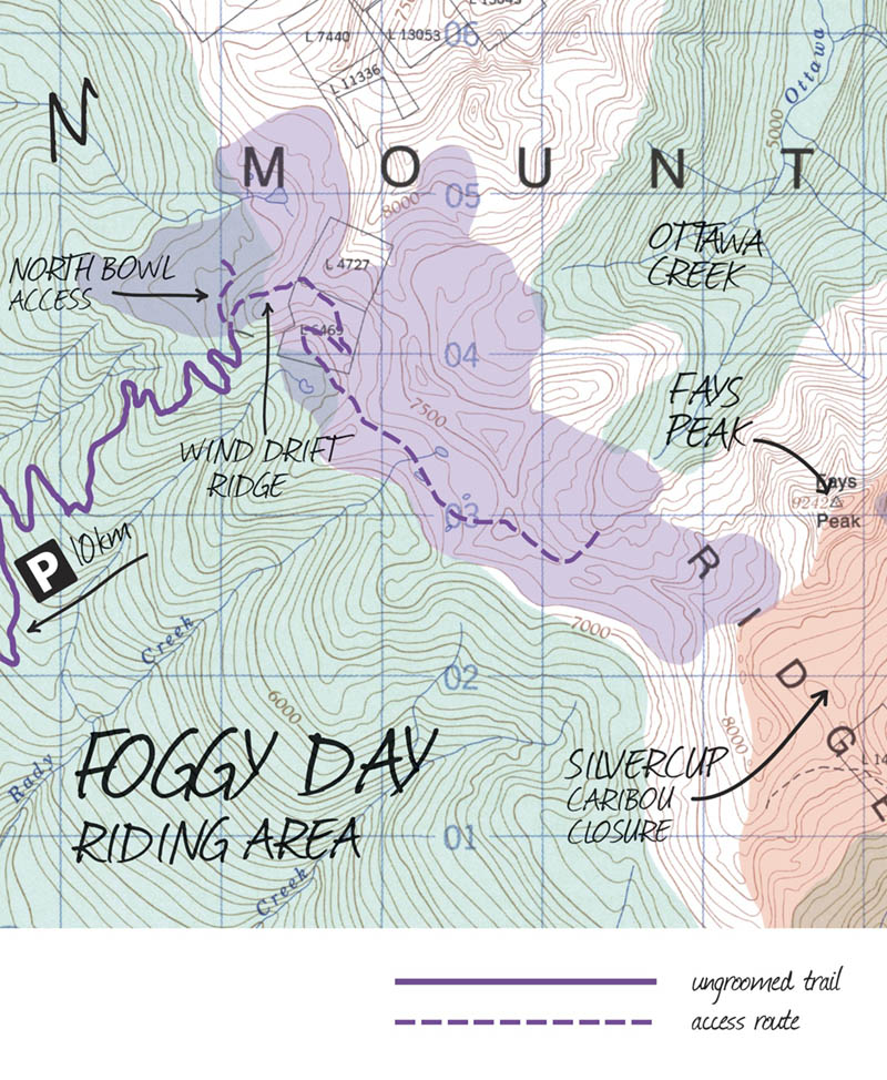 Foggy Day Trout Lake Map